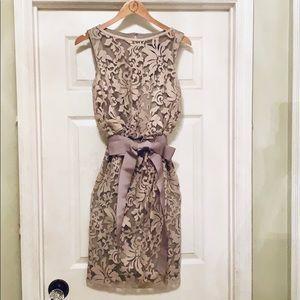 EUC Tadashi Shoji elegant lace cocktail dress